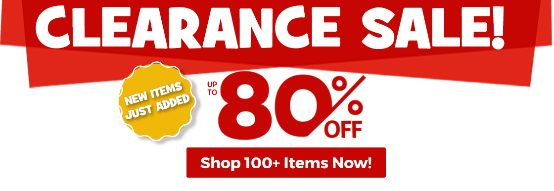 Clearance sale up to 80% off and new items just added