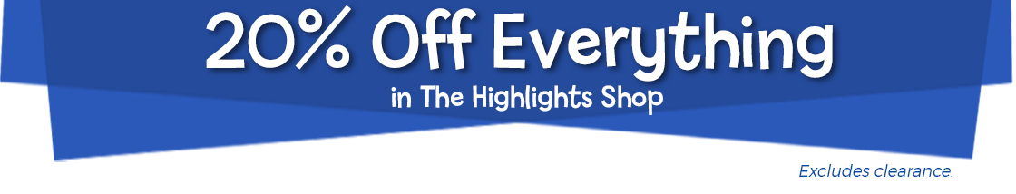 For one week only take 20% off everything in The Highlights Shop, excluding clearance