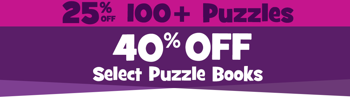 Get 40% Off Select Puzzle Books and 25% off all other puzzles