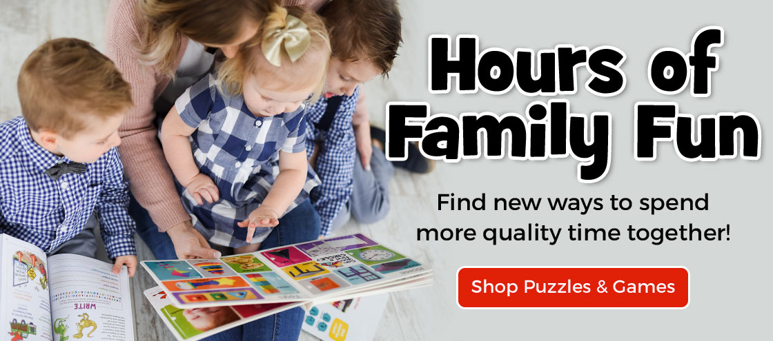 Find new ways to spend more quality time together in our collection of puzzles and games.