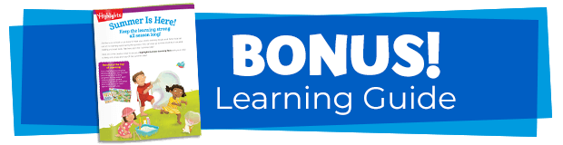 Bonus Summer Learning Guide with tips for parents.