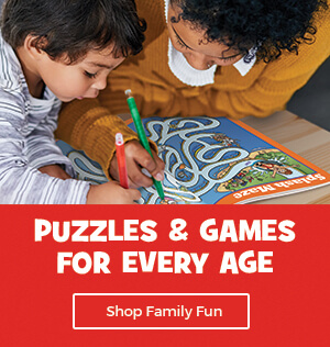 Find fun for the whole family in our puzzle and game collection!
