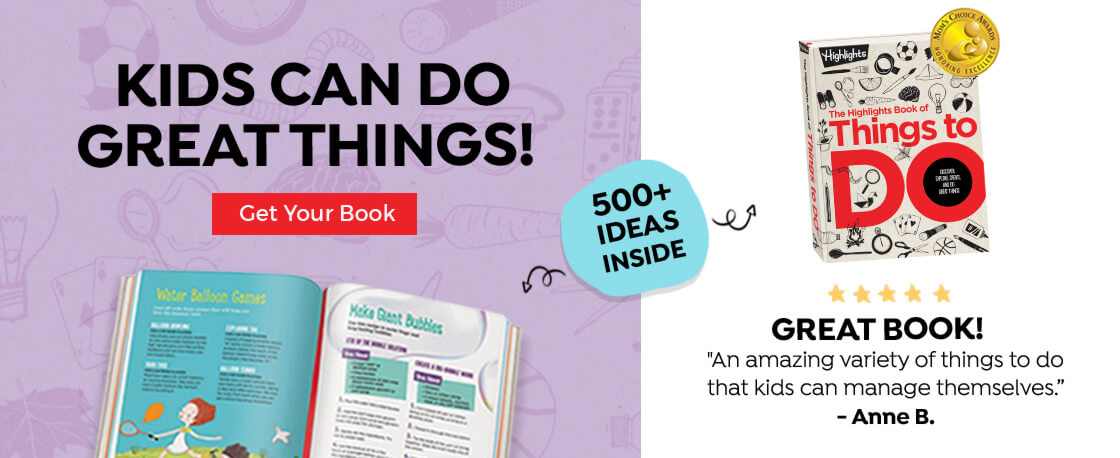 Crafts, experiments, recipes, ideas and ways to give back, The Book of Things to Do includes hundreds of ways for kids to make their own fun.