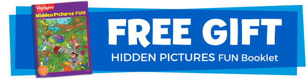 Free Gift Hidden Pictures Fun Booklet
