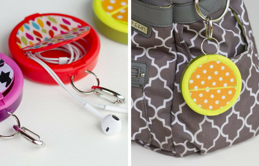 Earphones always getting tangled? Commandeer an empty mint container to create a cute, compact earphone container.