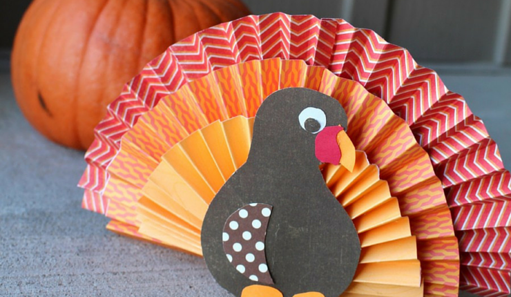 This fan-tastic bird only requires a few sheets of construction paper and some basic folding skills.