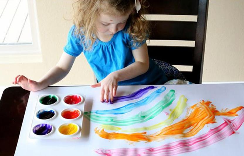 Natural Gel Finger Painting