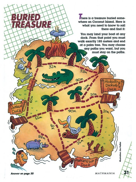 A puzzle with a treasure map
