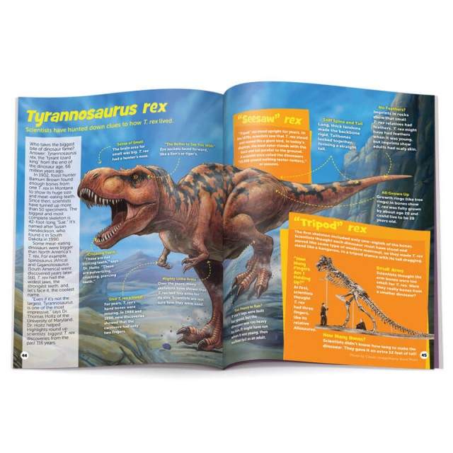 Illustrated article about Tyrannosaurus Rex