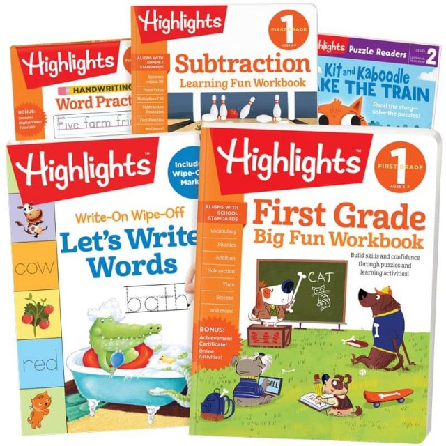 School Success Pack, First Grade, with 5 books