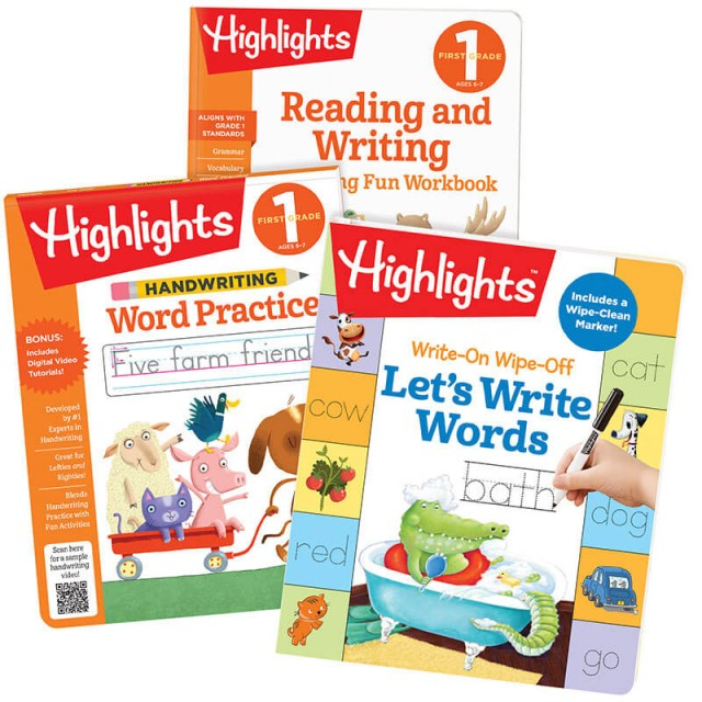 Writing Words Learning Pack First Grade, with 3 books