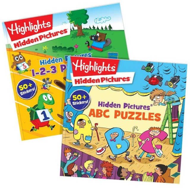 Hidden Pictures ABC and 123