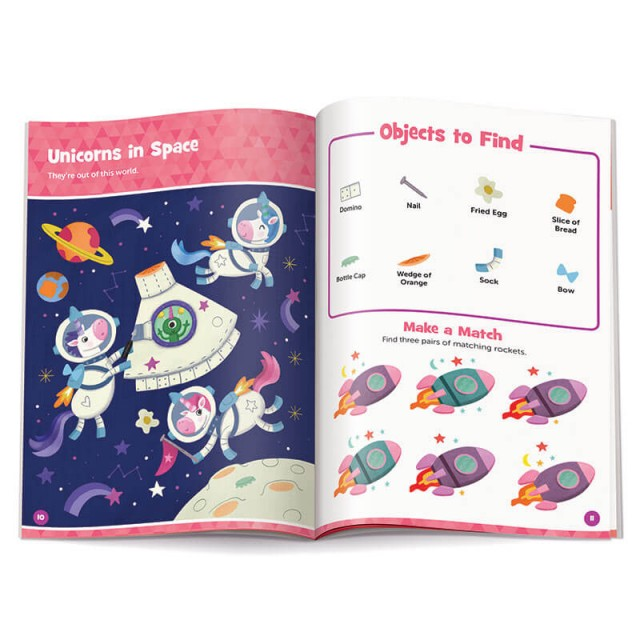 Unicorns in Space puzzle and matching game