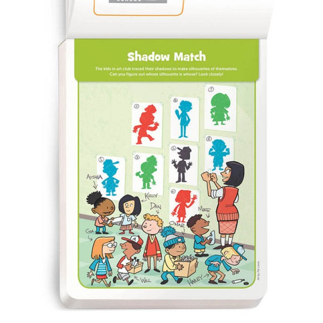 A matching game with kids and their shadows