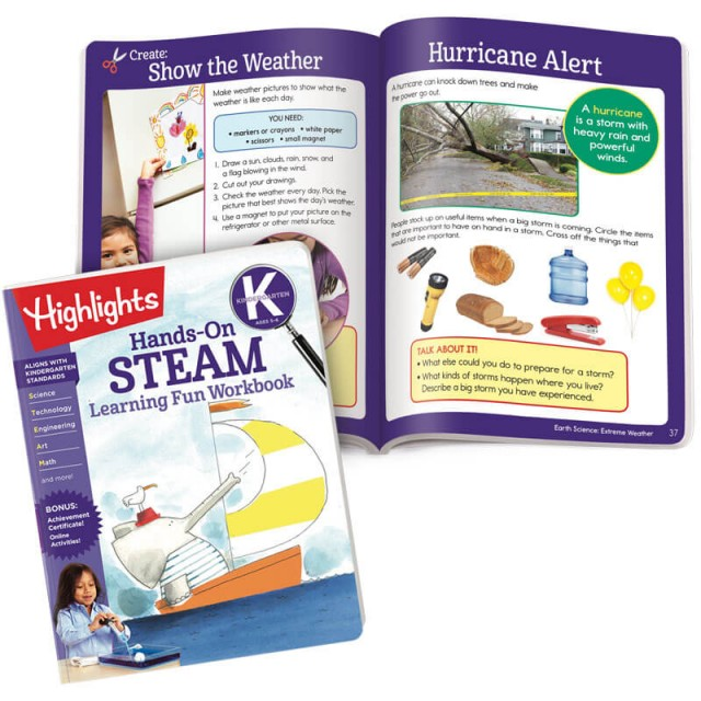 Hands-On Steam book and a lesson about weather and preparedness