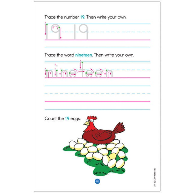 Kindergarten Learning Practice Pads Page 4