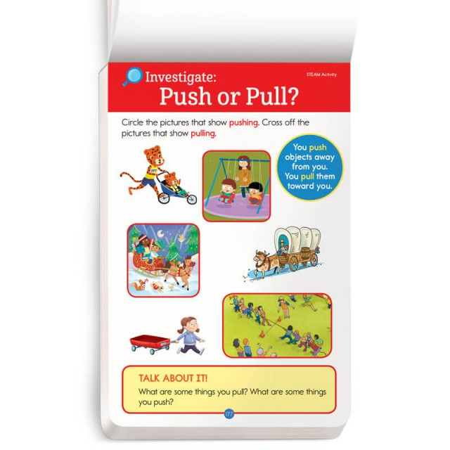 A STEAM activity about pushing and pulling