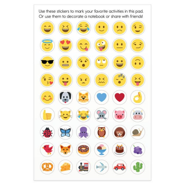 A page of stickers to use anywhere