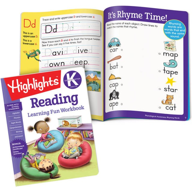Learning Fun Workbook: Reading, and Letter D practice page