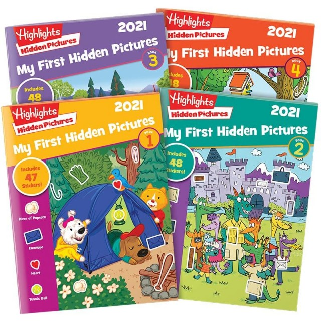 My First Hidden Pictures 2021 4-book set