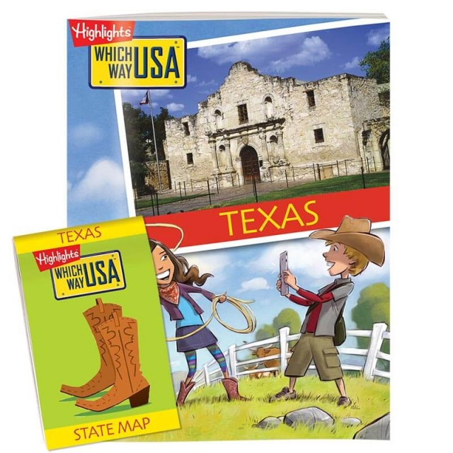The Texas state puzzle book and folded map