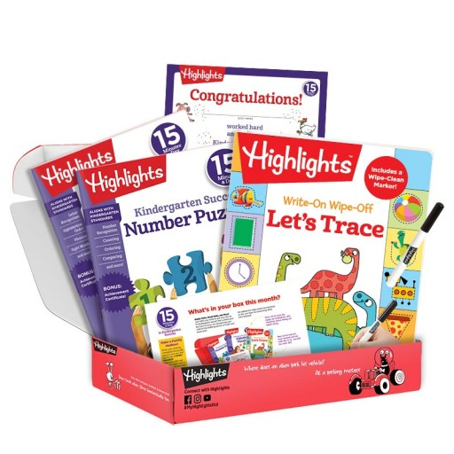 Highlights 15 Minutes a Day to School Success kindergarten subscription box