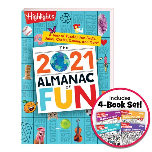 2021 Almanac of Fun and Hidden Pictures 4-Book Set