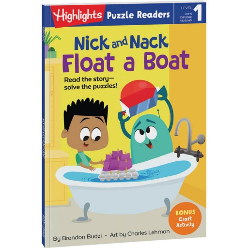 Nick and Nack Float a Boat puzzle reader