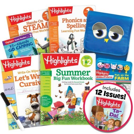 Deluxe Summer Learning Pack 1-2, with 5 books, lunch bag, pencil toppers kit and magazine subscription