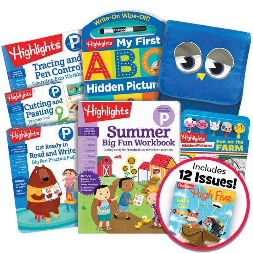 Deluxe Summer Learning Pack: Getting Ready for Preschool, with 5 books, lunch bag, pencil toppers kit and magazine subscription