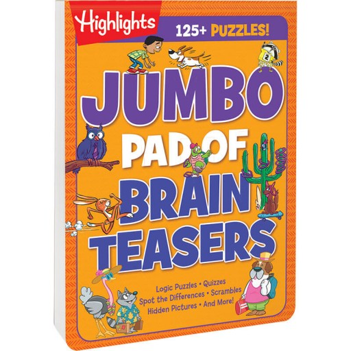 Jumbo Pad of Brain Teasers paperback book