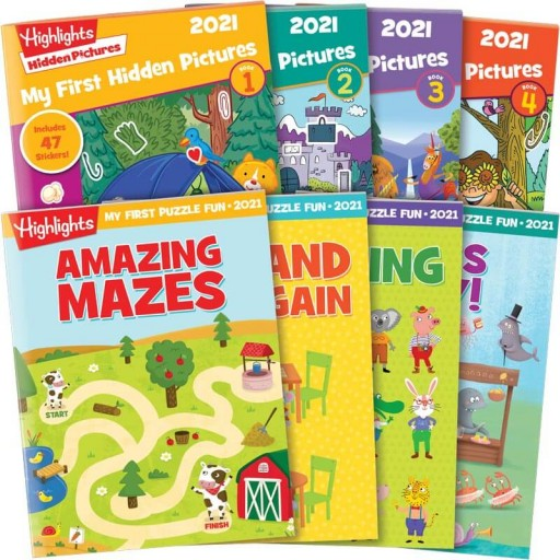 Best of 2021 My First Hidden Pictures + Puzzle Fun Collection with 8 books
