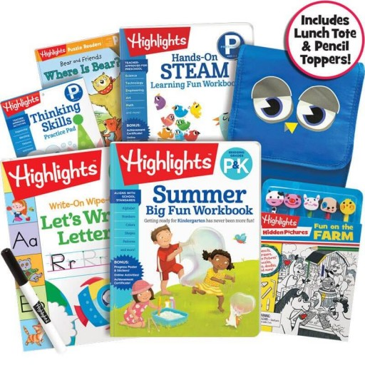 Premium Summer Learning Pack: P-K, with 5 books, lunch bag and pencil toppers kit