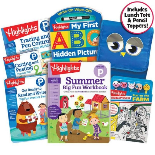 Premium Summer Learning Pack: Getting Ready for Preschool, with 5 books, lunch bag and pencil toppers kit
