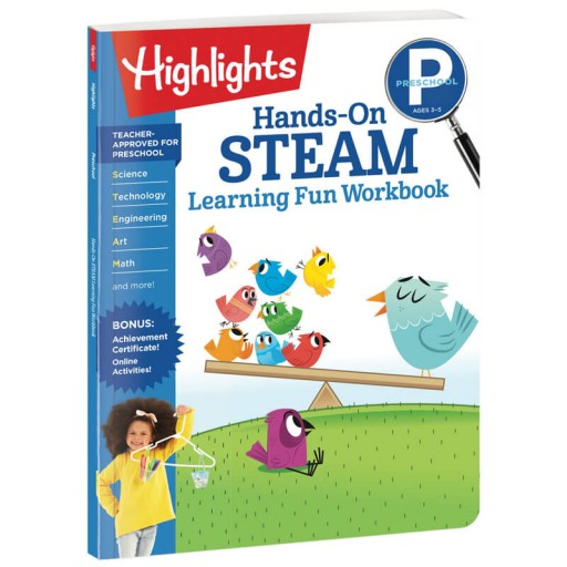 Preschool Hands-On STEAM Learning Fun Workbook