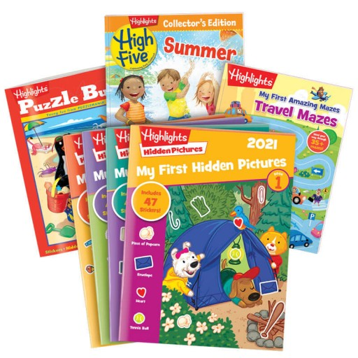 Summer Fun Gift Set for Ages 3-6 with 7 books