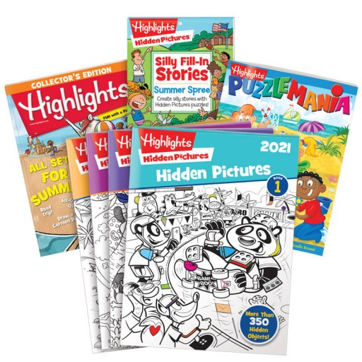 Summer Fun Gift Set for Ages 6-12 with 7 books