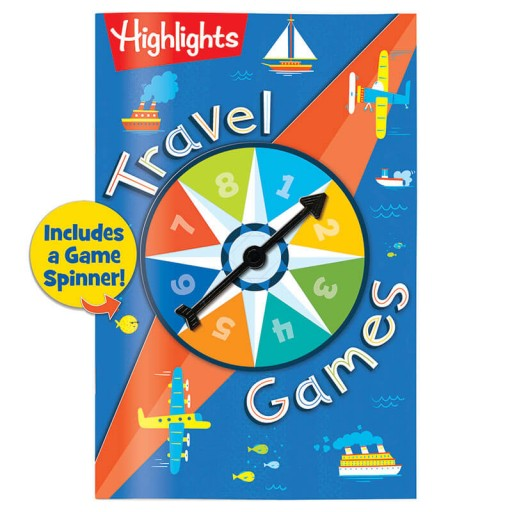 Travel Games book with built-in spinner