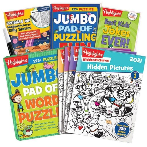 Young Readers Gift Set with 4 books and Hidden Pictures 2021 4-book set