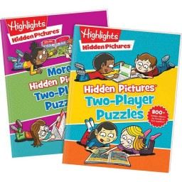 Hidden Pictures Two-Player Puzzles and More Hidden Pictures Two-Player Puzzles paperback books