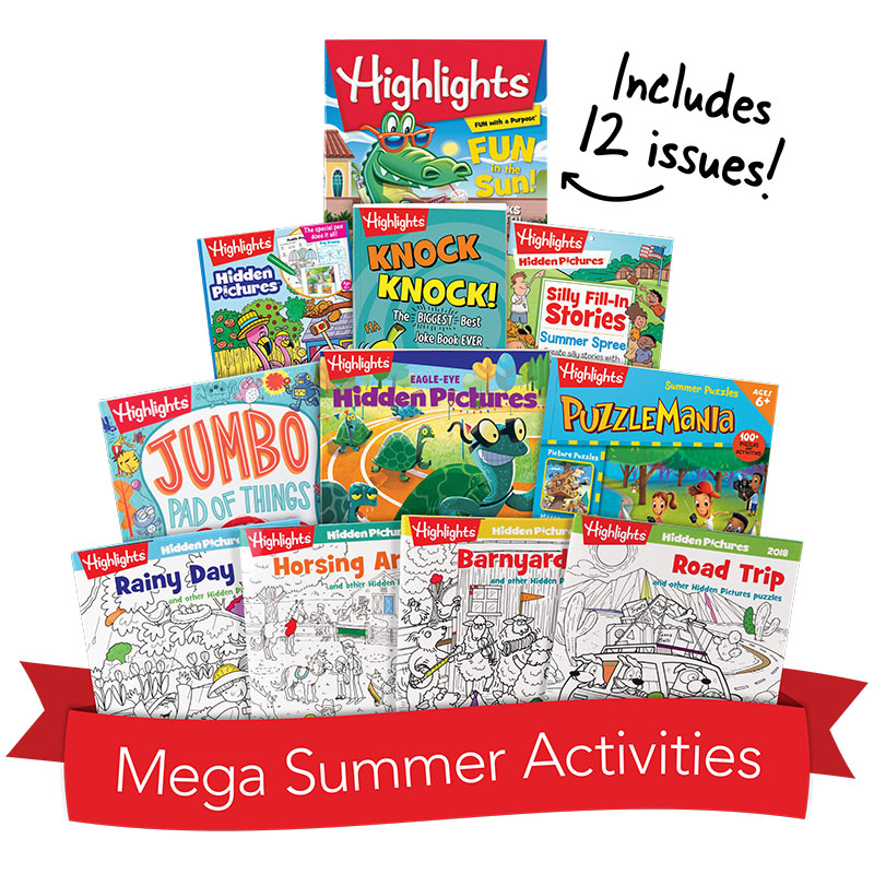 Mega Summer Activity Box Highlights For Children