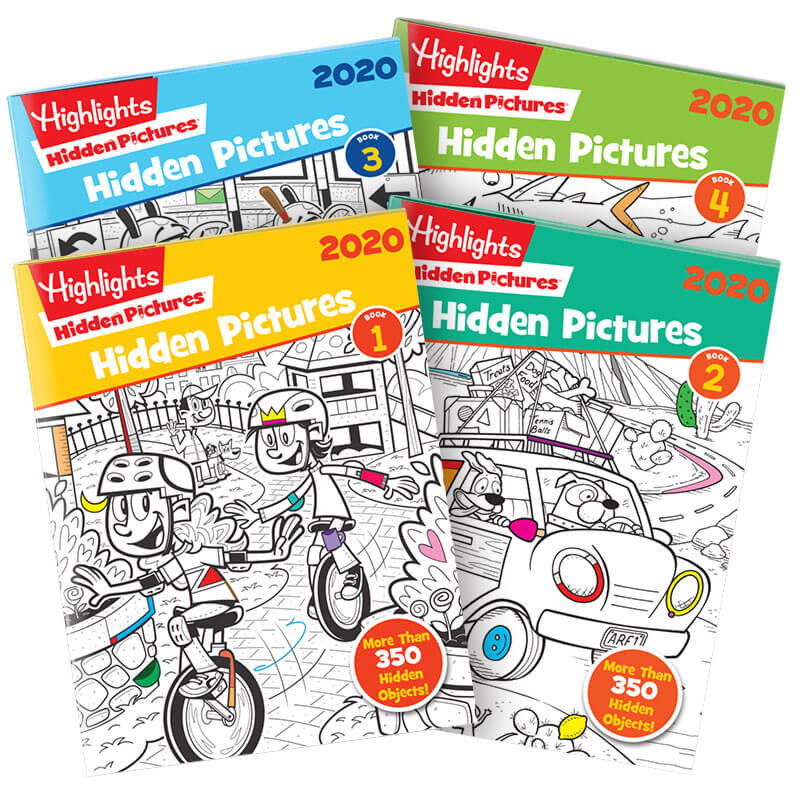 Hidden Pictures 2020 4 Book Set Highlights For Children