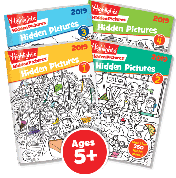 Hidden Pictures 4-Book Set 2019