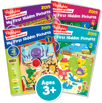 My First Hidden Pictures 4‑Book Set