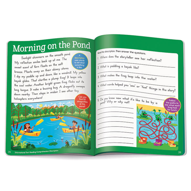 Second Grade Learning Fun Workbook: Reading And Writing Highlights For  Children