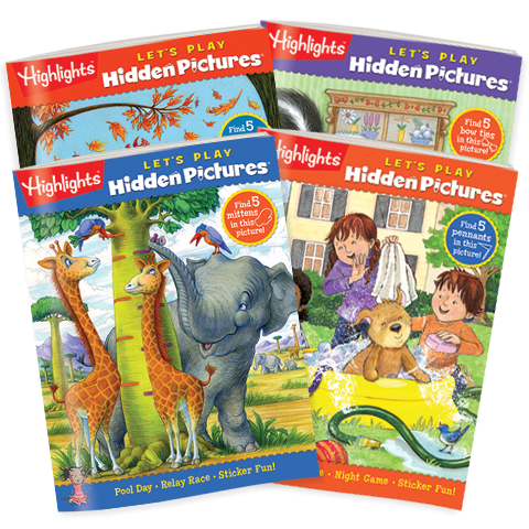 Hidden Pictures Let S Play 4 Book Set Highlights For Children